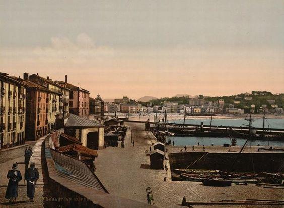El puerto de Donostia entre 1890 y 1900. https://www.facebook.com/SanSebastianDesaparecida?fref=photo
