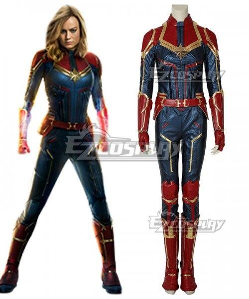 Captain Marvel Costume Carol Danvers Cosplay Costume Halloween Adult Costume Jumpsuit officially licensed marvel product. captain marvel costume carol danvers