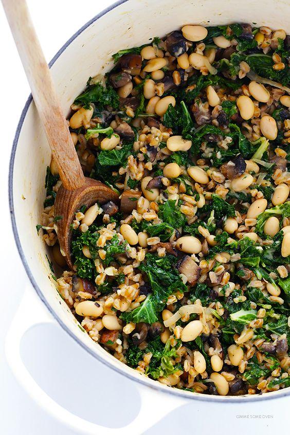 kale omit kale 4 kale farro kalereally nice kale gimmesomeoven recipes ...