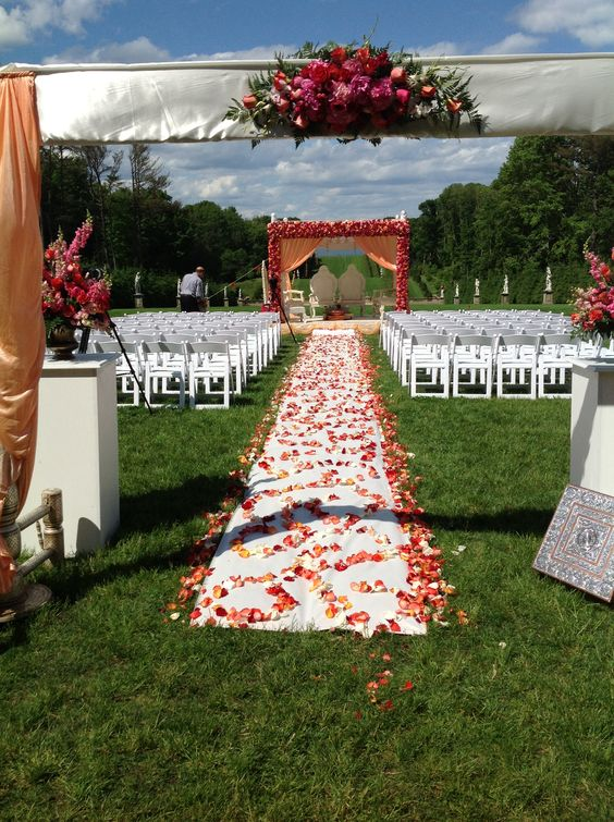 Indian wedding Mandap, outdoor Mandap, floral Mandap by Alankar.