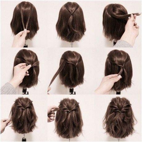 Einfache Schnelle Frisuren Fur Kurzes Haar Flechtfrisuren Locken Flechten L Frisur Ideen Zopf Kurze Haare Hochsteckfrisuren Kurze Haare Bequeme Frisuren