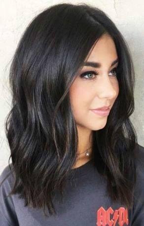 Haircut Shoulder Length Shortish 41 Super Ideas Hair Color For Black Hair Hair Color Chart Medium Length Hair Styles