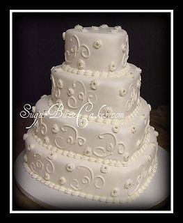 Heart shaped wedding cake by Sugar Buzz Cakes by Carol, via Flickr     Beautiful!