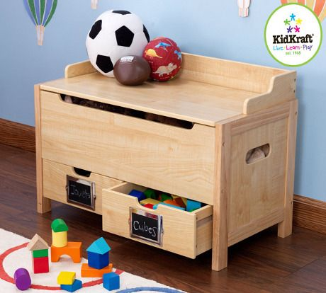 awesome wooden toy storage chest
