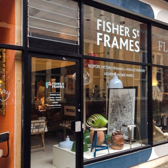 Love our 'Lewes Map' in Fisher Street Frames