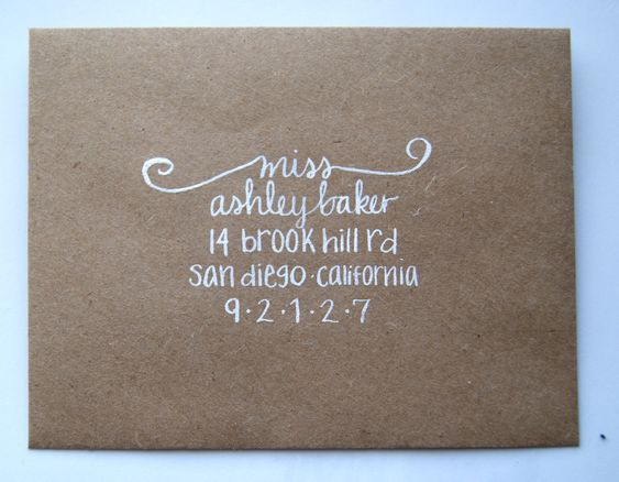 Thought You 39 D Like The Kraft Paper Envelope With White