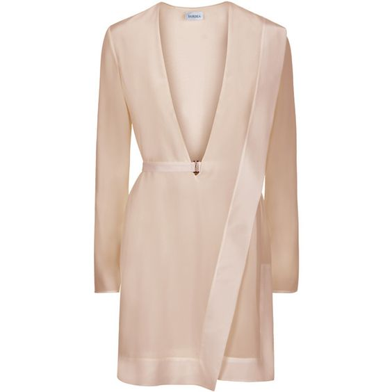 La Perla Wired Dress (£1,075) ❤ liked on Polyvore featuring dresses, beige, plunging neckline dress, plunge-neck dresses, stretch dress, beige dress and stretchy dresses