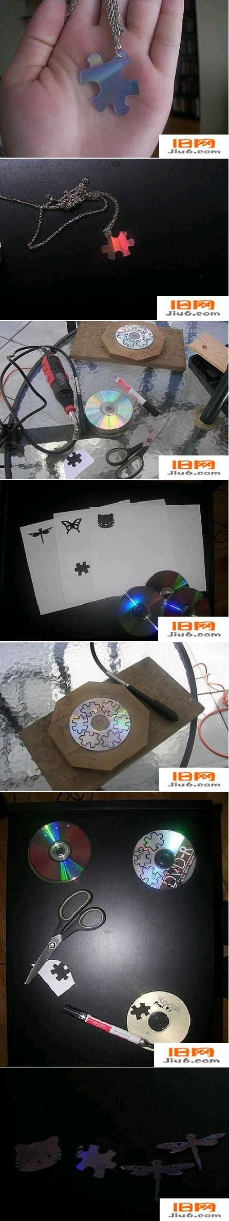 DIY Old CD Necklace