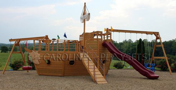 swing sets swings woodworking wooden playset how to build boats planks