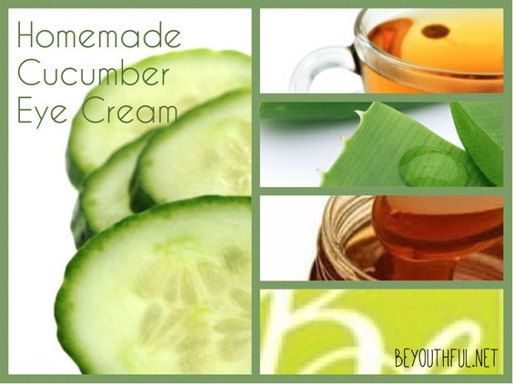 homemade eye cream  Homemade cucumber eye cream for tired puffy eyes. Can last up to a week before needing to be thrown out