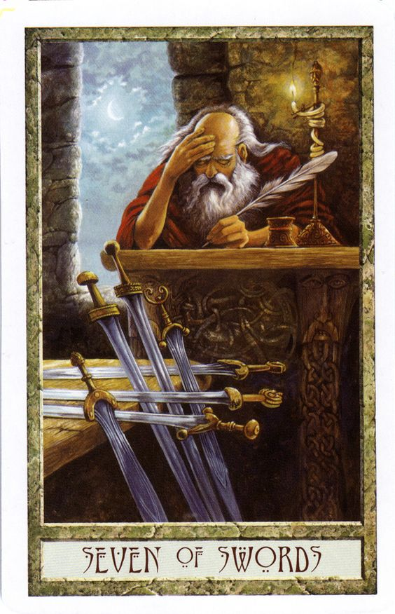 7 of Swords - Druid Craft Tarot