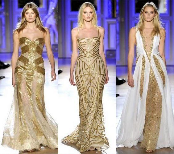 Zuhair murad gold gowns