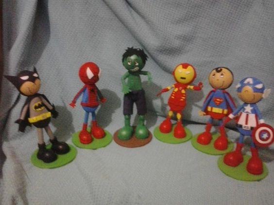 Super herois - Batman - Homem aranha - Hulk - Homem de ferro - super homem - capitão américa