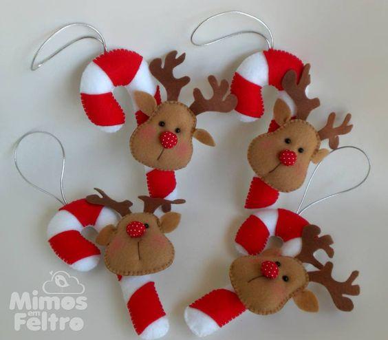 Feltro reindeer and felt on pinterest for Productos de navidad