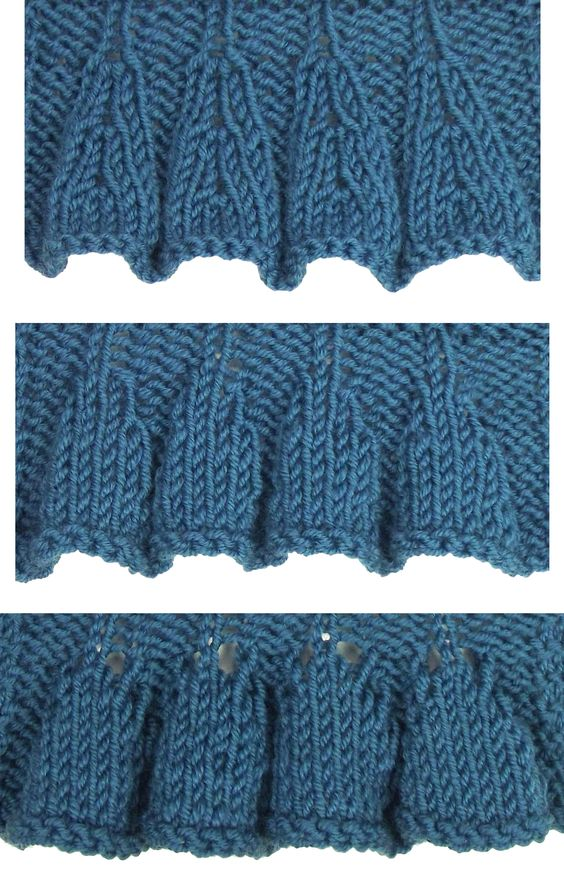 Knit Edging Patterns : Top Down Ruffles are found in the Edging Stitches category. knit edging &am...