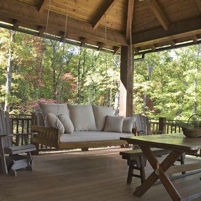 Gorgeous porch swing!
