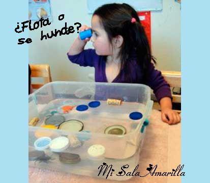Mi Sala Amarilla: Experimentos con agua: ¿Flota o se hunde?
