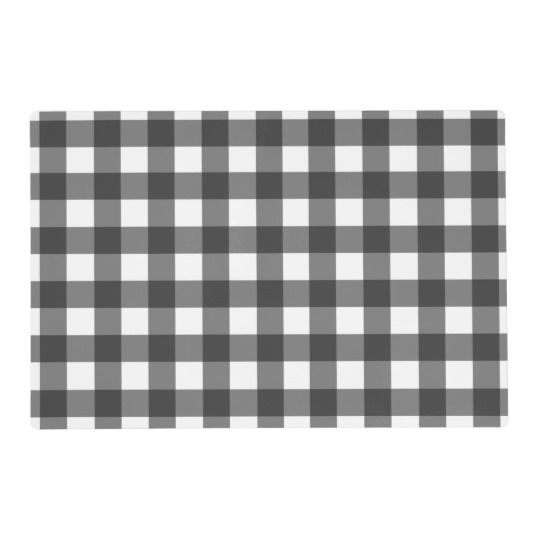 Placemat Buffalo Black And White Plaid Check Custom Placemats White Plaid Black And White