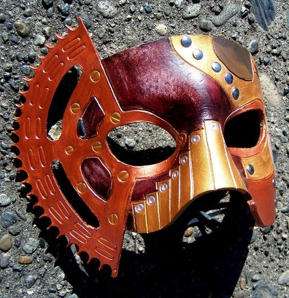 Leather mask. $100