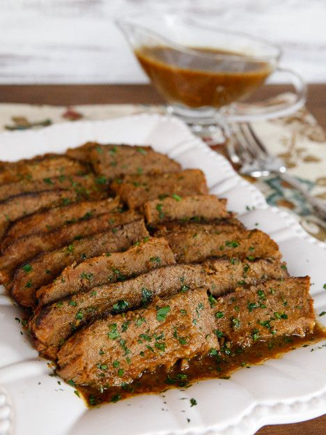 Savory Slow Cooker Brisket - Simple Brisket Recipe with Onion, Garlic ...
