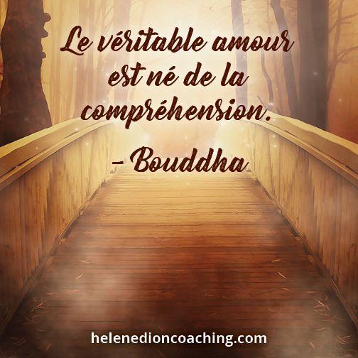 Le Véritable Amour Est Né De La Compréhension Bouddha