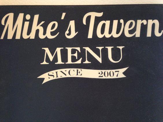 LARGE Personalized chalkboard menu kitchen sign by OneChicShoppe, $70.00