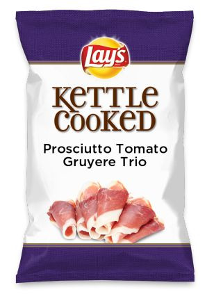 Wouldn't Prosciutto Tomato Gruyere Trio be yummy as a chip? Lay's Do Us A Flavor is back, and the search is on for the yummiest flavor idea. Create a flavor, choose a chip and you could win $1 million! https://www.dousaflavor.com See Rules.
