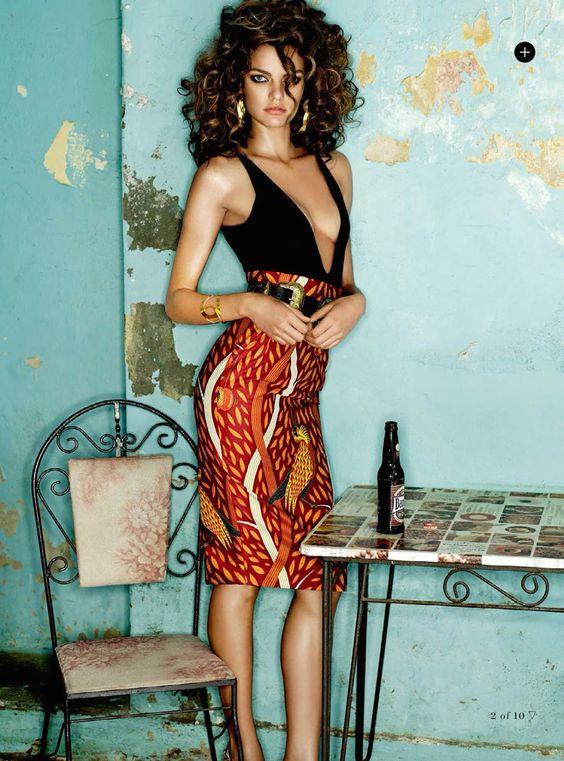 heat of the day: barbara fialho by david gubert for marie claire australia october 2014  (lovely skirt):