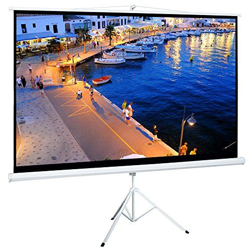 Cloud Mountain 100 Inch 16 9 Projector Screen With Stand Portable Indoor Outdoor Pull Up Tripod Stand P Home Theater Portable Projector Screen Projector Screen