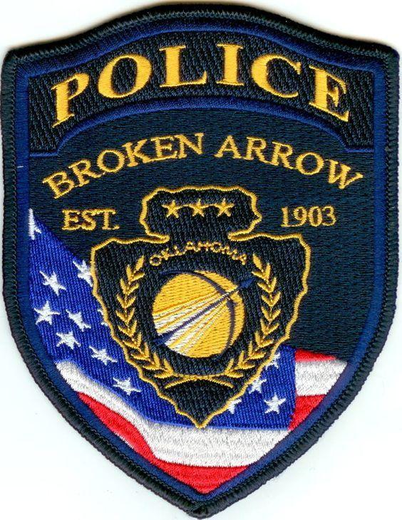Us State Of Oklahoma City Of Broken Arrow Police Department Patch Police Police Patches Police Badge