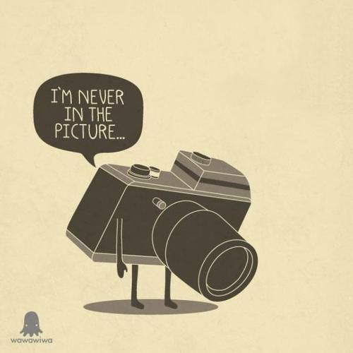 I'm never in the picture... #camera #illustration