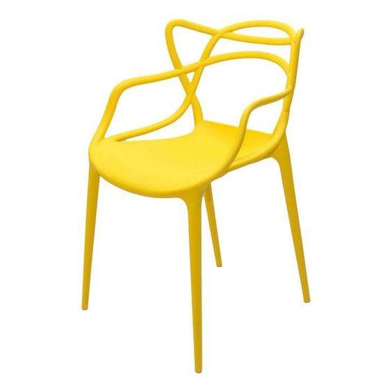 Cadeira UMIX-400 em Polipropileno Amarelo Universal Mix