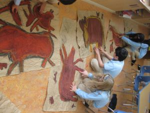 Pre-historic art for kids: cave painting ideas