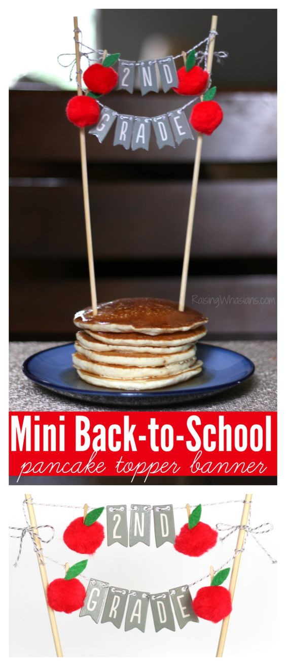 Mini Back to School Banner Pancake Topper