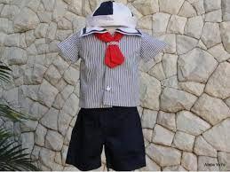 Resultado de imagem para roupa de marinheiro para bebe de 1 ano