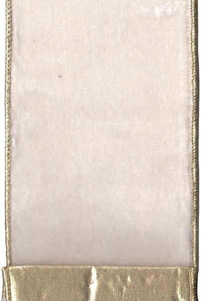 Lush Velvet With Gold Lame Back, Ivory