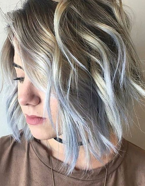 Pastel Blue Hair Color Ideas For Fall Winter Short Hairstyles 2017 2018 Ash Blonde Hair Colour Light Blue Hair Blonde Hair Color