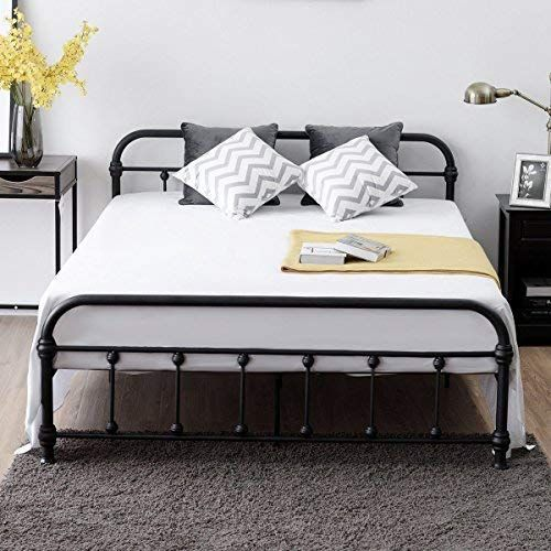 Giantex Queen Size Platform Bed Frame Metal Bed Frame With Headboard And Footboard Steel Slat A Steel Bed Frame Bed Frame And Headboard Headboard And Footboard