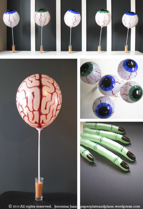 Halloween balloon body parts halloween party creepy for Balloon decoration for halloween