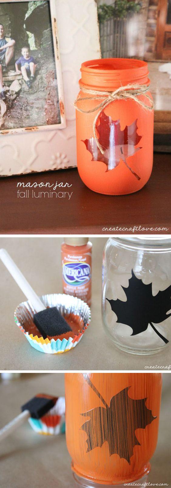 DIY mason jars wedding decoration ideas for fall