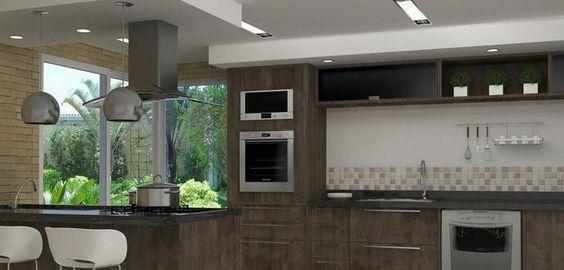iluminação cozinhas pequenas planejadas