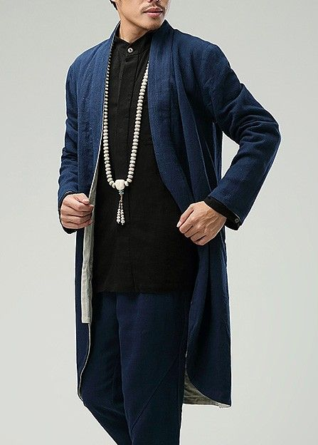 The product Blue Commoner Chinese Style Men's Windbreaker Loose Casual Zen Chinese Robe is sold by Asia-Sale Best Tai Chi, Kung Fu Clothing & Equipment Shop in   Tictail lets you create a beautiful online store for free - tictail.com