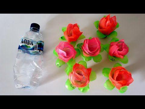 Ide Kreatif Bunga Mawar Dari Limbah Plastik Botol Aqua Youtube