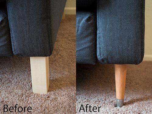 Karlstad Sofa Ikea, How To Replace Ikea Sofa Legs