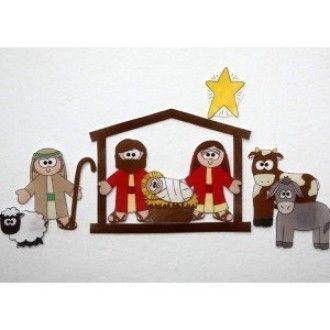 Baby in Bethlehem - Felt Printables | YouCanMakeThis.com