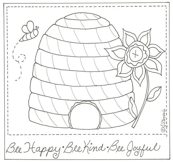 Free Bee and Bird Embroidery Patterns