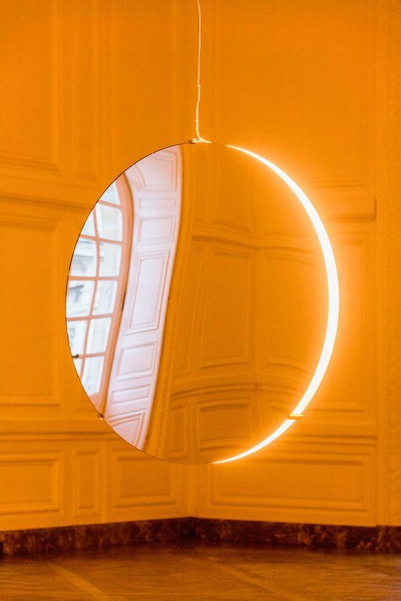 Olafur Eliasson,Solar compression, 2016. Convex mirrors, monofrequency…