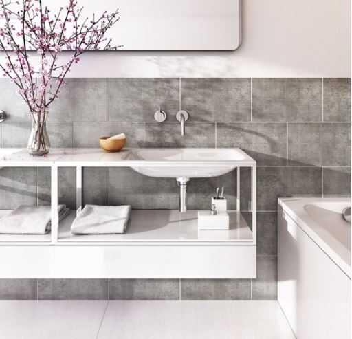 Proplas Tile 250 Stone Graphite Matt Upvc Tile Effect Panels 4 Pack Bathroom Wall Cladding Grey Tiles Tile Cladding