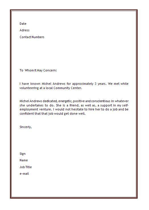 Sample Personal Letter Of Recommendation 16 Download Free Documents In Word Pdf Personal Reference Letter Work Reference Letter Writing A Reference Letter