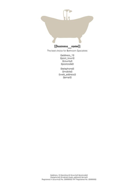 Bathroom letterhead designed by me at Nic's Designs